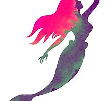 Watercolor Mermaid Ariel  by allyonlyweknow