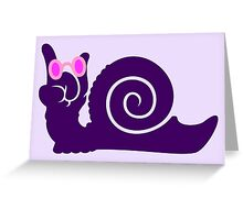 funky snail Greeting Card