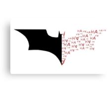Batman/Joker Bat Symbol Canvas Print