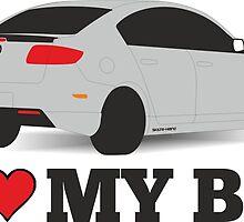 I love my BK  by Skilte-Heino