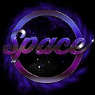 Space Text On Black Background by Moonlake