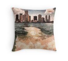 In its wake Throw Pillow