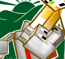 Stampy's World featuring Mr. Stampy Cat and Gregory the Dog! - green emblem Sticker
