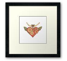 Love steampunk heart Framed Print