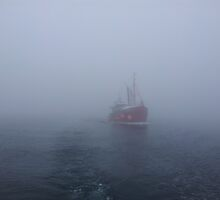 Fog at Scapa Flow by grayswander