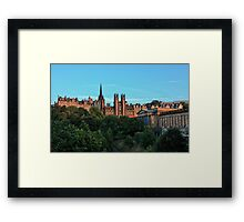 The Scottish National Gallery and Edinburghs Old Town Framed Print