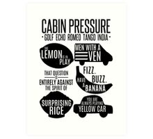 Cabin pressure moments  Art Print