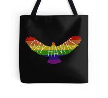 Gay Hawks rainbow Tote Bag