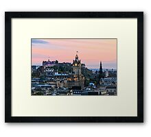 Edinburgh Skyline from Calton Hill. Scotland Framed Print