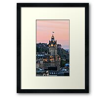 Balmoral Clocktower at Dusk, Edinburgh Framed Print