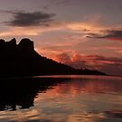 Sokehs Rock Sunset, Pohnpei, Micronesia by Alex Zuccarelli
