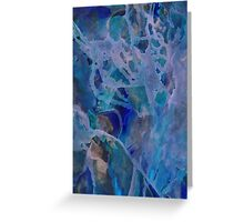 Primordial blue therapy Greeting Card