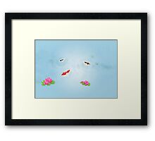 Origami Garden - Koi and Waterlilies Framed Print