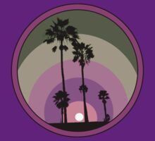 Palm Sunset - Purple T-Shirt