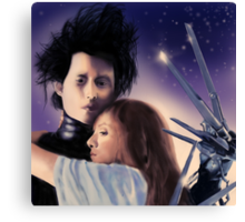 """I Can't"" - Edward Scissorhands Canvas Print"