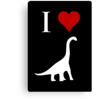 I Love Dinosaurs - Brachiosaurus (white design) Canvas Print