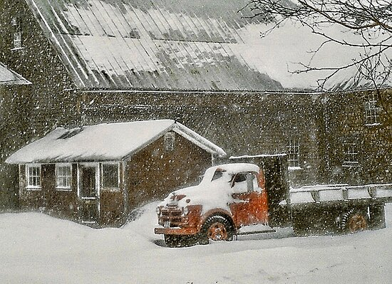 Snow-Bound - Bridgton, Maine by T.J. Martin