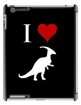 I Love Dinosaurs - Parasaurolophus (white design) by jezkemp