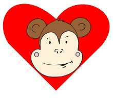 Monkey Face Heart by kwg2200