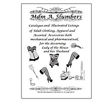 Mdm A Slumbers Catalogue of 1888 Photographic Print
