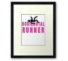 Horizontal Runner Framed Print