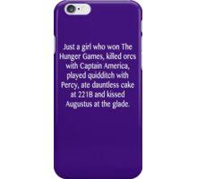 just a girl iPhone Case/Skin