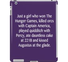 just a girl iPad Case/Skin