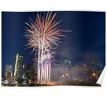 Calgary Canada Day Fireworks Poster