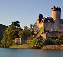 Summer light on Duingt castle by Patrick Morand