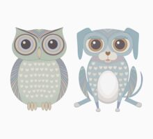 Cool Owl and Lanky Dog Kids Clothes