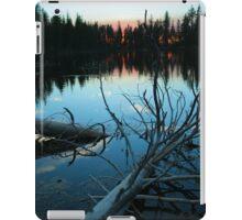 Sundown - Reflection Lake - Lassen Volcanic National Park iPad Case/Skin