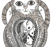 Contented Cat by Anita Inverarity