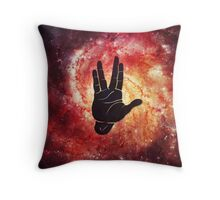 Spocks Hand Galaxy Throw Pillow