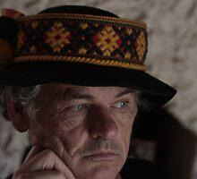 Lemko highlander folk-costumes - Portrait Doctor Andrzej Goszcz. Tribute to Andy Varhol. by © Andrzej Goszcz,M.D. Ph.D