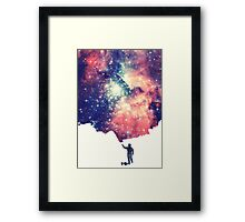Painting the universe Framed Print