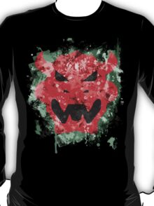 Bowser Emblem Splatter T-Shirt