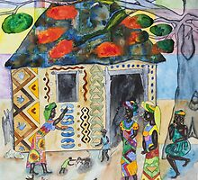 African woman decorating her home (Often I dream about Africa, part 3 ) by gheider