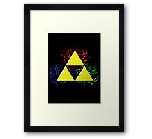 Smoky Triforce Framed Print