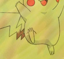 Watercolour Pikachu Sticker