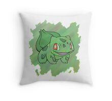 Watercolour Bulbasaur Throw Pillow