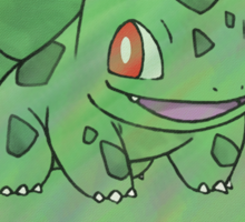 Watercolour Bulbasaur Sticker