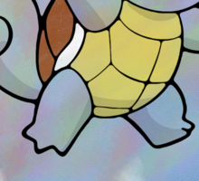 Watercolour Squirtle Sticker