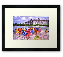 The dock at Blue Mountain Framed Print