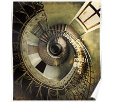 Spiral staircase in pastels Poster
