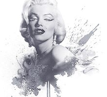 Marilyn Monroe Graphic Print by tenagibson