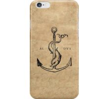 Festina Lente - Aldus Manutius Printer's Mark iPhone Case/Skin