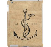 Festina Lente - Aldus Manutius Printer's Mark iPad Case/Skin