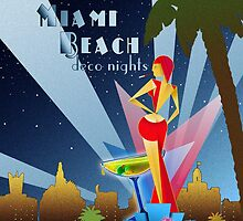 Miami Beach Deco Nights by Everett Day