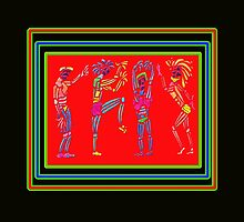 Dance Warriors Earth Dance Tranparent Overlay by JimmyGlenn Greenway