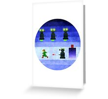 Doctor Who Dalek Game Shirt Greeting Card